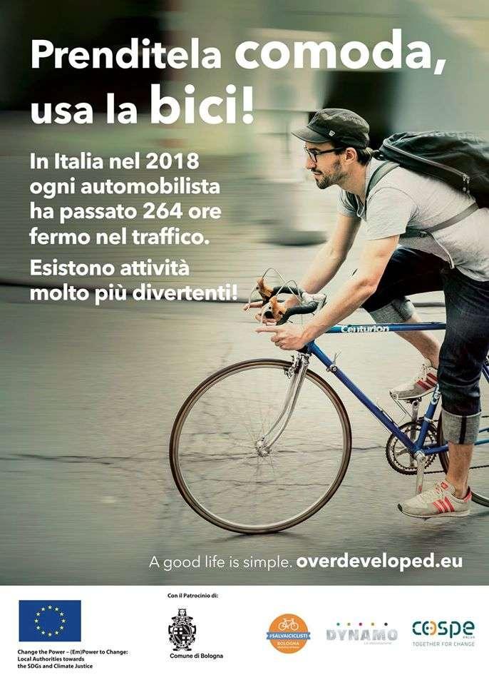 La campagna di comunicazione per la mobilità sostenibile realizzata insieme al Cospe nell'ambito del progetto europeo Overdeveloped.